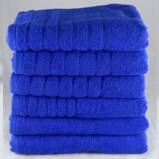 Face Towels Washcloths Royal Blue Egyptian Cotton 525 gsm 12 Pack