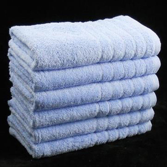 Light Blue Egyptian Cotton Bath Towels 600gsm - Pack of 4