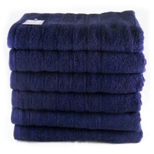 Navy Blue Fingertip Towels Egyptian Cotton Pack of 12