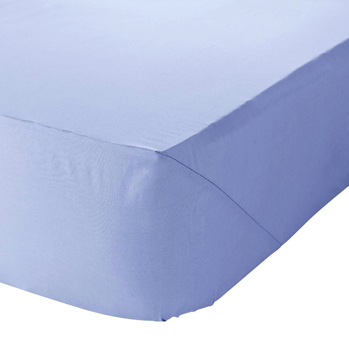 "Polycotton Plain Dyed Fitted Sheet | 6 Bed Sizes | Choice of 6 Colours | 8"" to 16"" Deep"