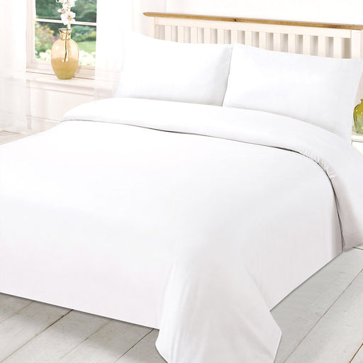 Emperor Duvet Cover White Egyptian Cotton Sateen 400 Thread Count