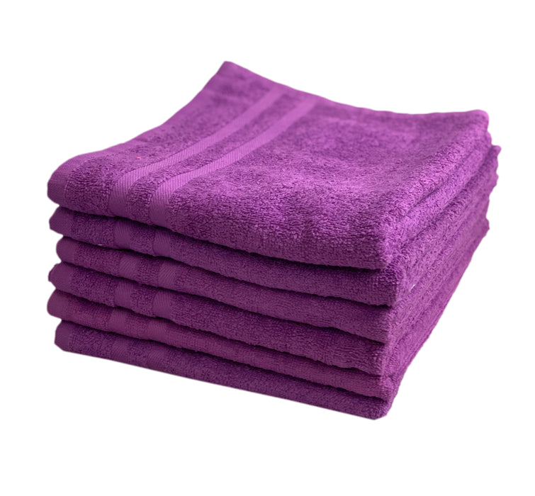 Hand Towels 100% Cotton 375gsm Pack of 12