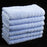 Face Towels Egyptian Cotton Sky Blue 525gsm Set of 12