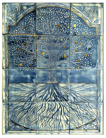 Tree Of Life Plaque Or Tile 80cm*60cm Hand Made