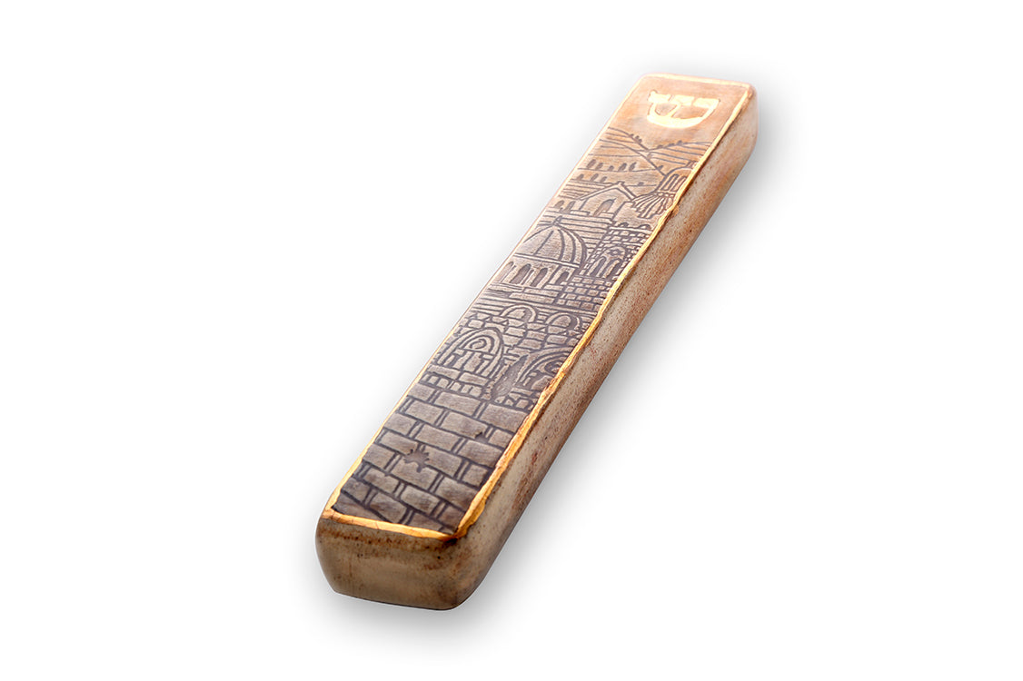 Handmade Mezuzah Case Amazing Jerusalem Model
