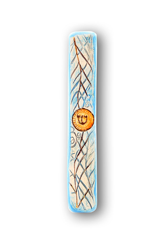 Handmade Mezuzah Cases Date Branches By Studio Art In Clay