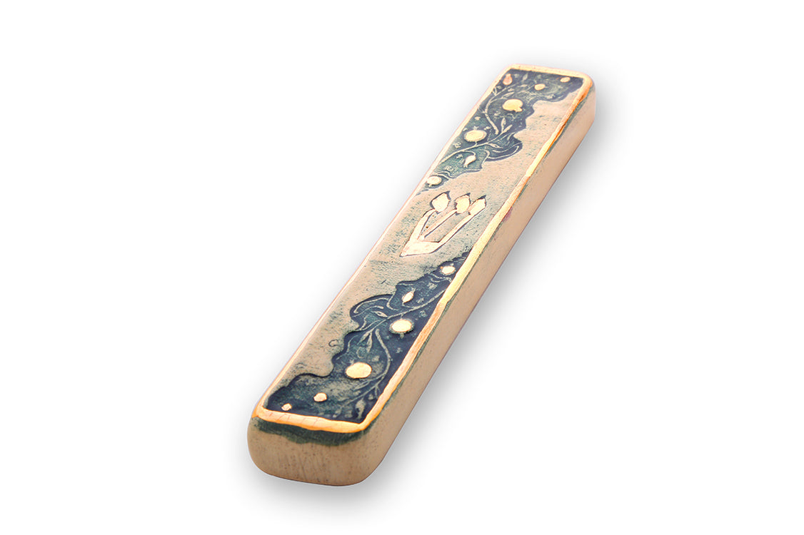 Handmade Mezuzah Cases With 24k Gold Judaica Gift