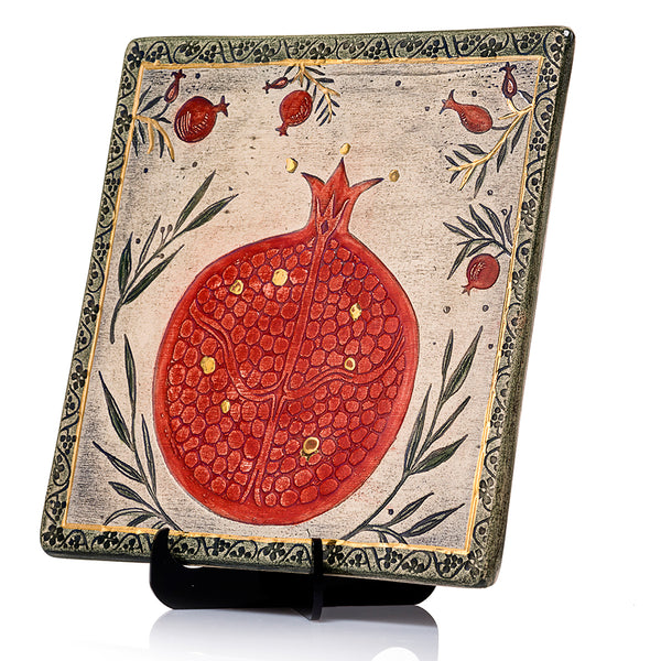 Pomegranate Handmade Ceramic Wall Plaque