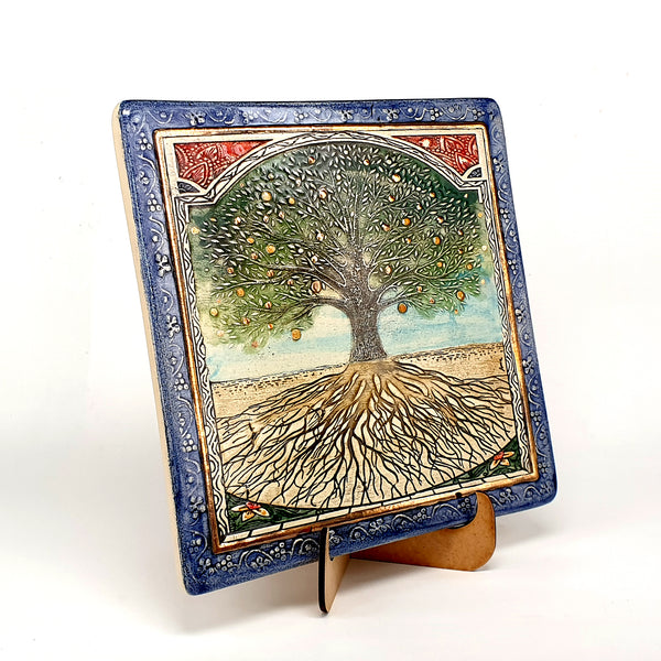 Tree Of Life Handmade Ceramic Wall Plaque