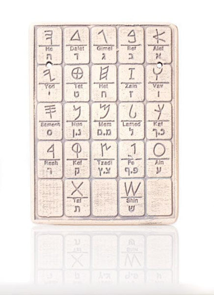 The ancient alphabet Wall plaque Ancient Hebrew