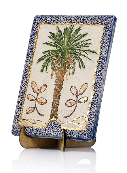 Ceramic Plaque HandMade Decorated With 24k Gold Ornaments