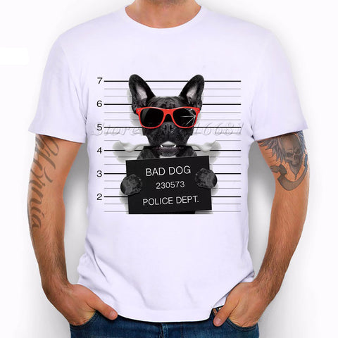 French Bulldog Design T Shirt Men's