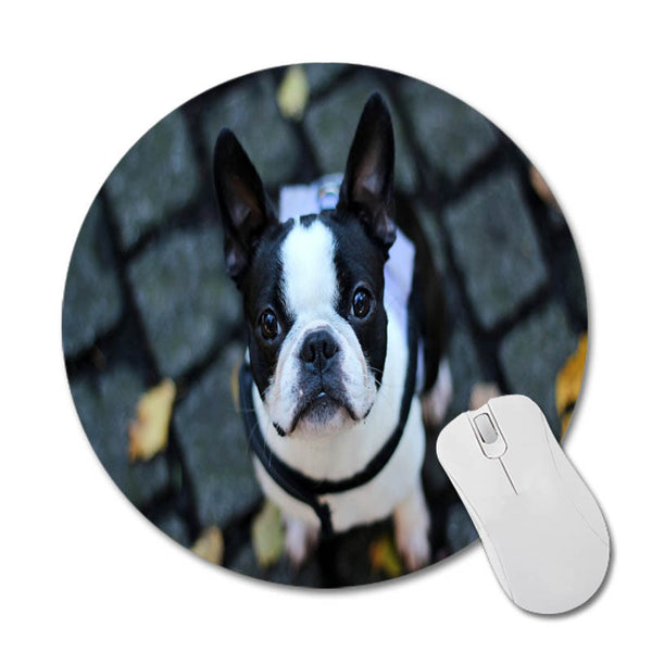 French Bulldog Round Mouse Mat Size 20cm*20cm
