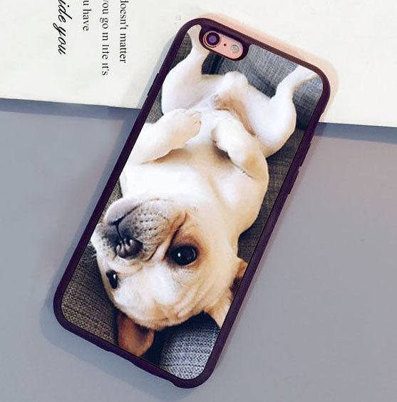 French Bulldog Puppy Printed Soft TPU Cases For iPhone