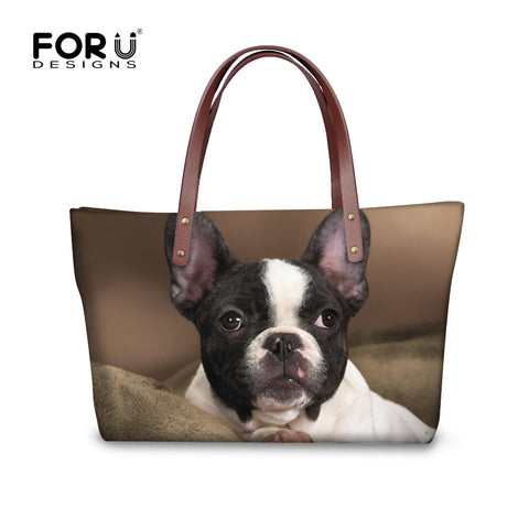 French Bulldog Pattern Casual Shoulder Bag