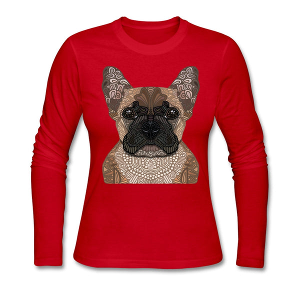 French Bulldog Women Full Sleeves  Tee Shirts
