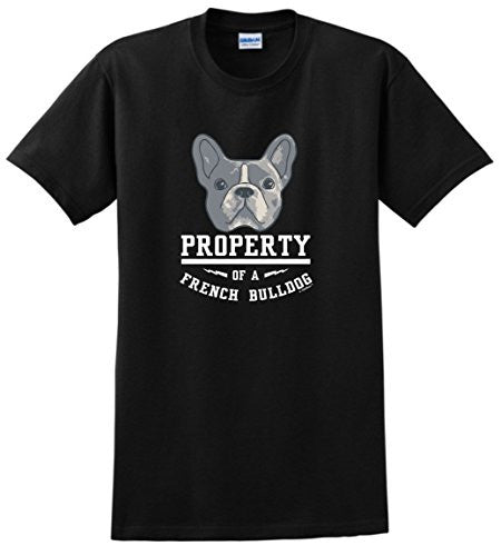 Property of a French Bulldog  Short Graphic Crew Neck