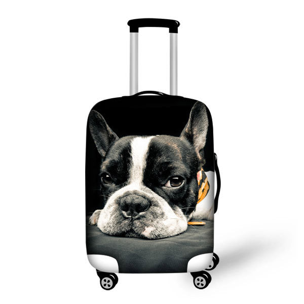 French Bulldog Waterproof Trolley Travel Suitcase