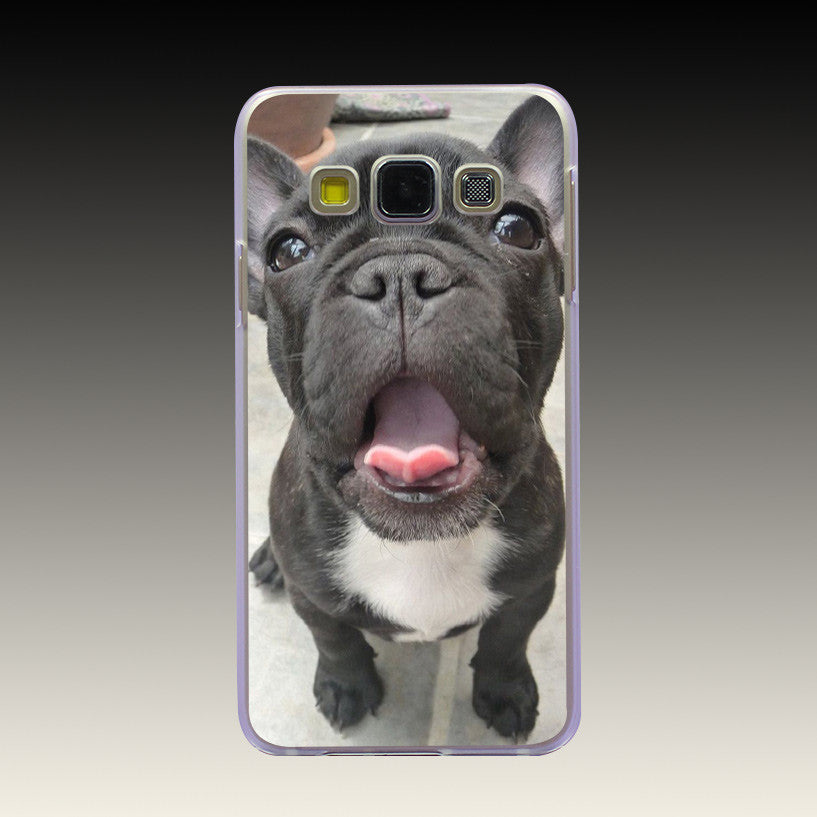 French Bulldog Puppies Black Hard Case Cover for Galaxy A3 A5 A7 A8 J5 J7 Grand 2 Prime Note 2 3 4 5