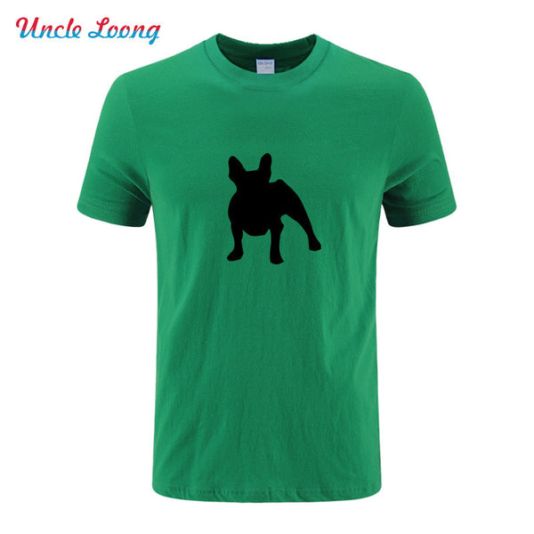 French Bulldog Silhouette O Neck T Shirt