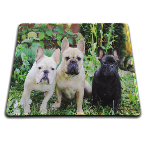 French Bulldogs Rubber Soft Mouse pad 18*22cm and 25*29cm