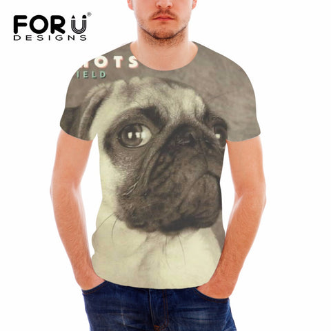 3D French Bulldog Printed Mens T Shirt Variety Collection