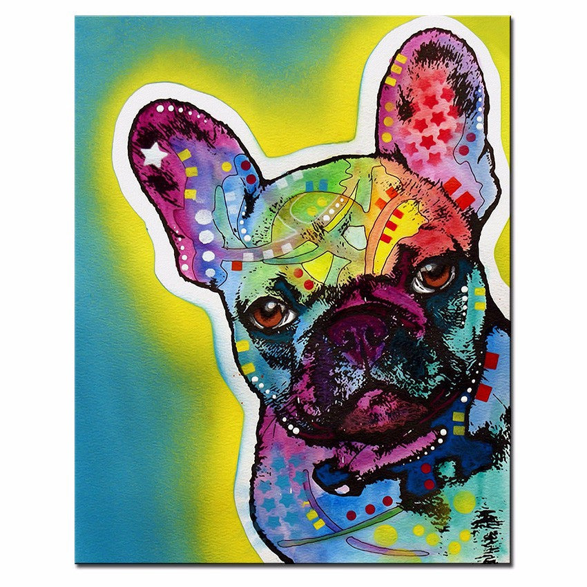 Large French Bulldog Oil Painting