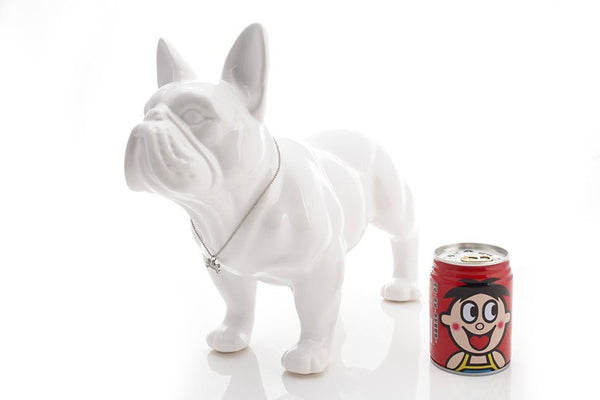 Cute French Bulldog porcelain animal figurine