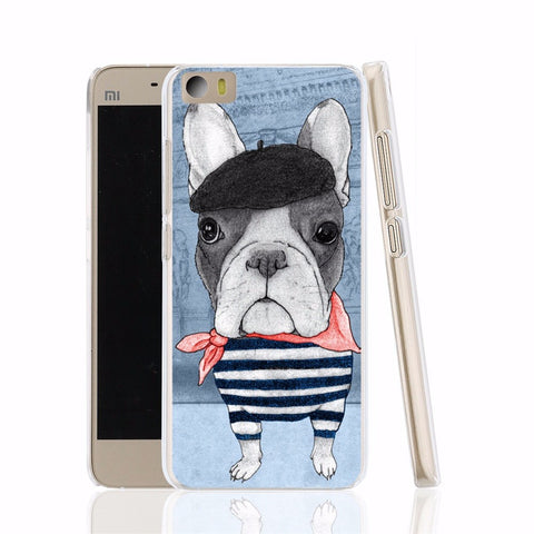French Bulldog Dog cell phone Cover Case for Xiaomi Mi M 2 3 4 5 Mi4 Mi2 Mi3 Mi4 4S 4I 4C Mi5 NOTE
