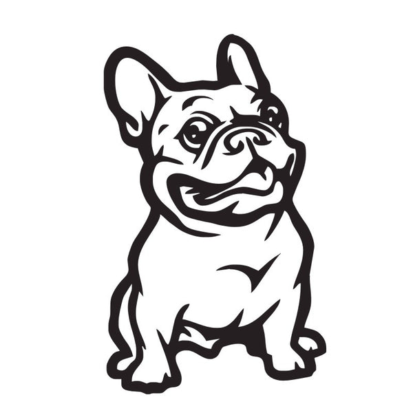 French Bulldog Dog Vinyl Sticker For Home Or Auto