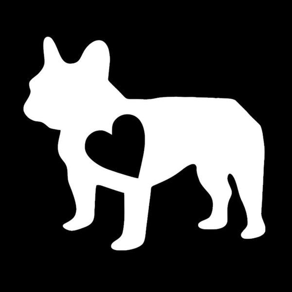 14.4*12.7CM French Bulldog Vinyl Decal Car Stickers