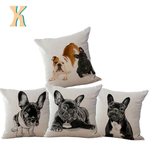 Adorable French Bulldog Dog Throw Pillow Cushion Cover