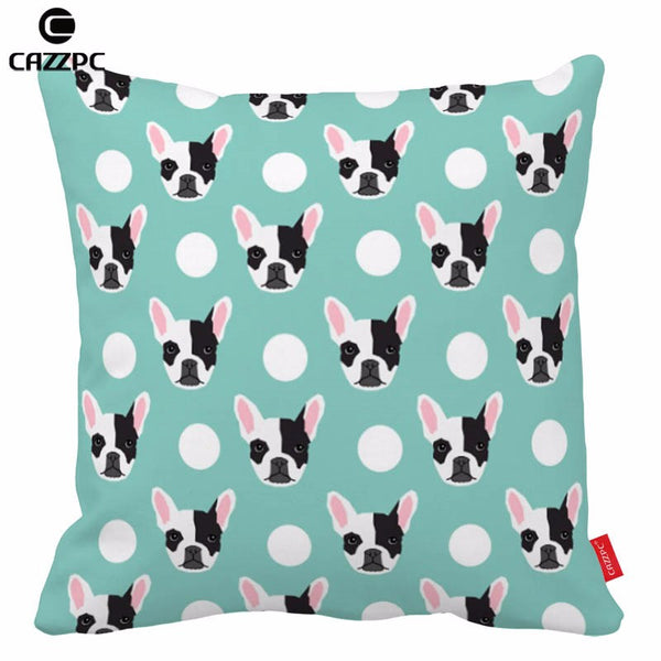 Choice Of 2 French Bulldog Pattern Throw Pillows Without Core