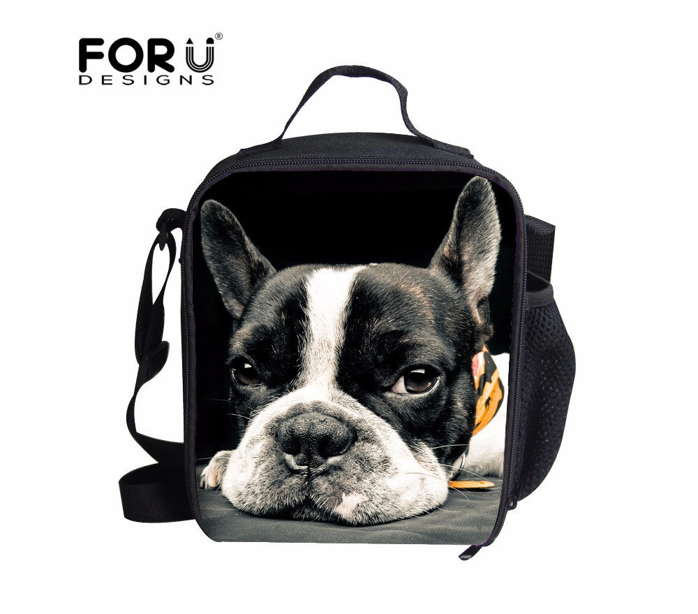 Cute French Bulldog Insulated Lunch Bag