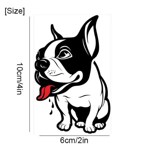 2pcs French Bulldog Sticker Home Decor Size 6*10cm