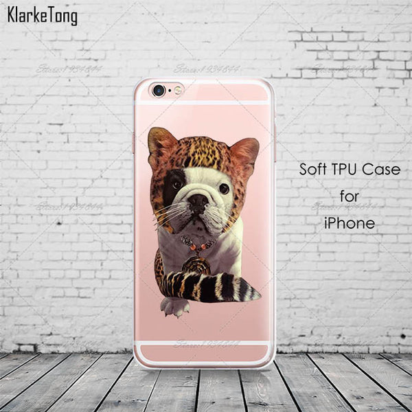 French Bulldog Pattern Soft Silicone Phone Case for Iphone 6 6s