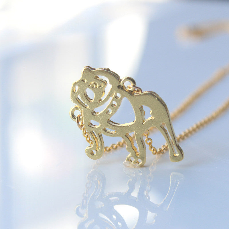 French Bulldog Necklace Animal Oragami
