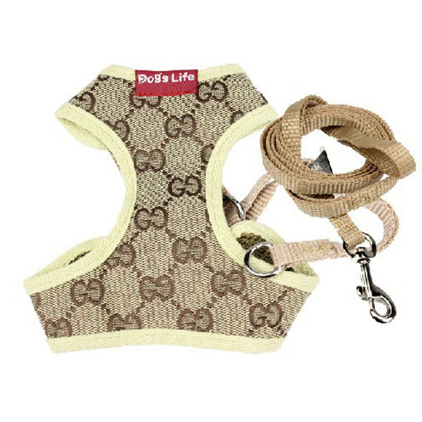 Small Dog Harness Traction Rope Dog Vest