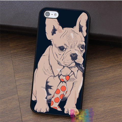 French Bulldog Boss cell phone case for iphone 4 4s 5 5s 5c SE 6 6s & 6 plus & 6s plus
