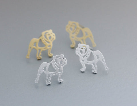 Tiny French Bulldog studs earrings for Women Simple Cute Design