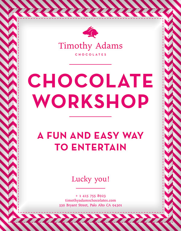 Chocolate Workshop — a fun and easy way to entertain — poster
