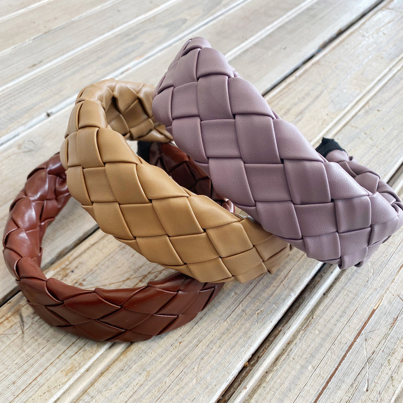 Vegan Leather Headband