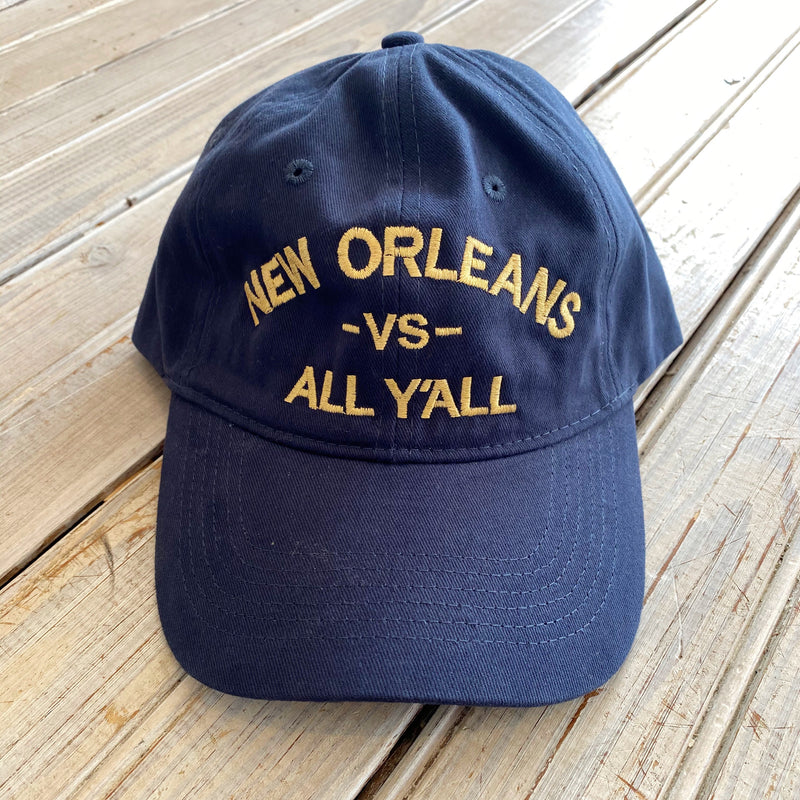 New Orleans vs All Y'all Hat - Navy Blue