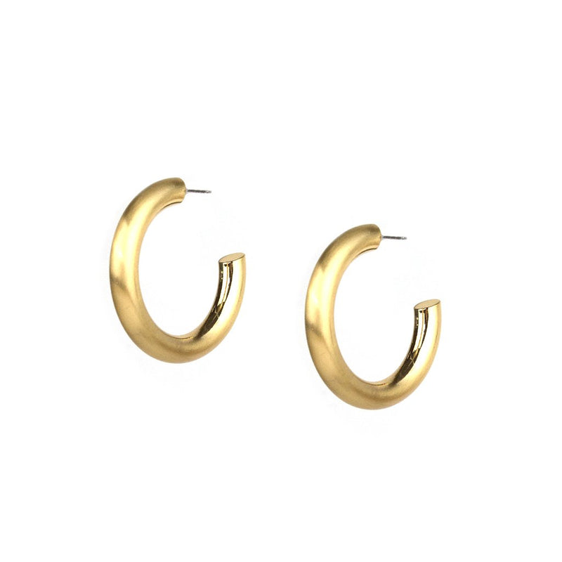 Satin Thick Hoop- Gold