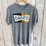 Two Tone Saints Tee-gry