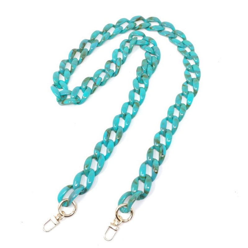 Chain Strap Long-turquoise