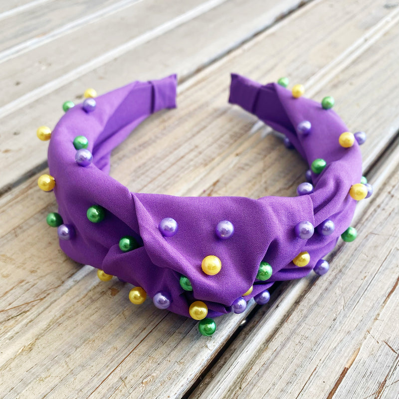 Mardi Gras Beaded Headband
