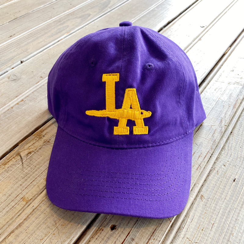 LA Gator Hat- Purple & Gold