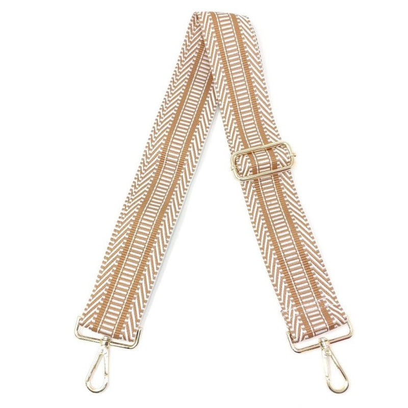 Bag Strap-tan/white