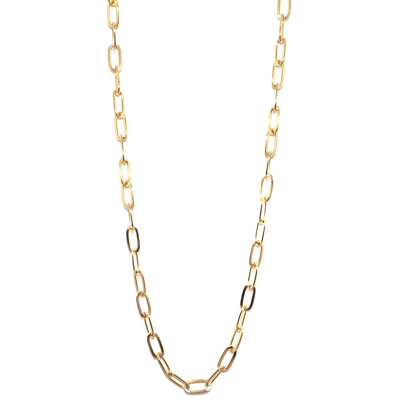 Long Chain Necklace - Gold 36""